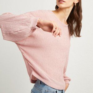 French Conn Willow Jersey Cropped Top Long Sleeve